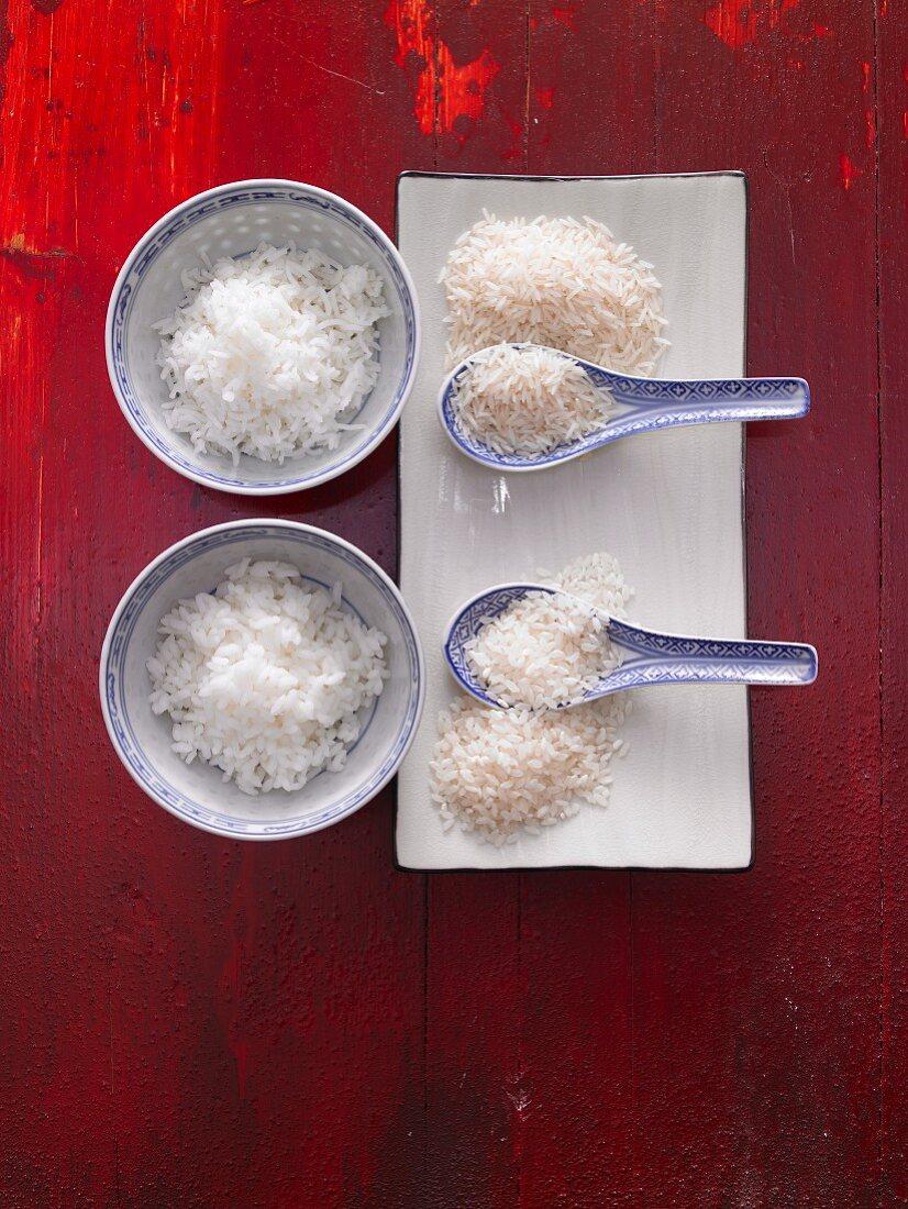 An arrangement of rice