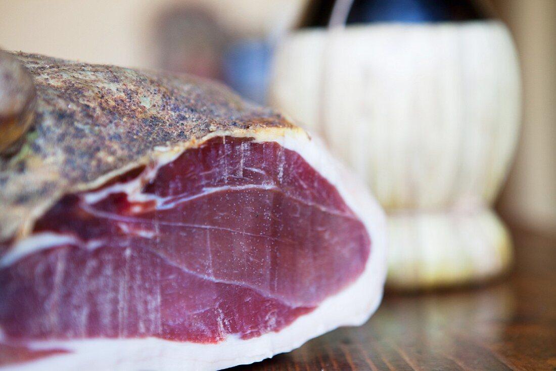 ham and wine