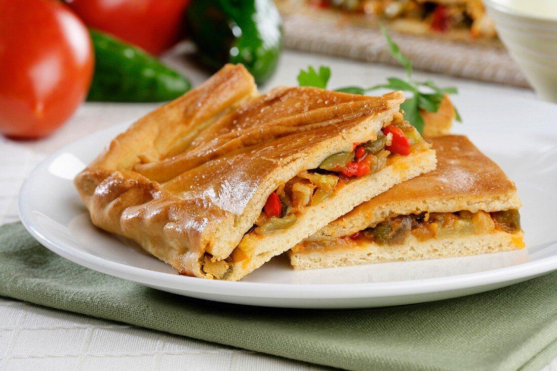 Empanada with cod (Spain)