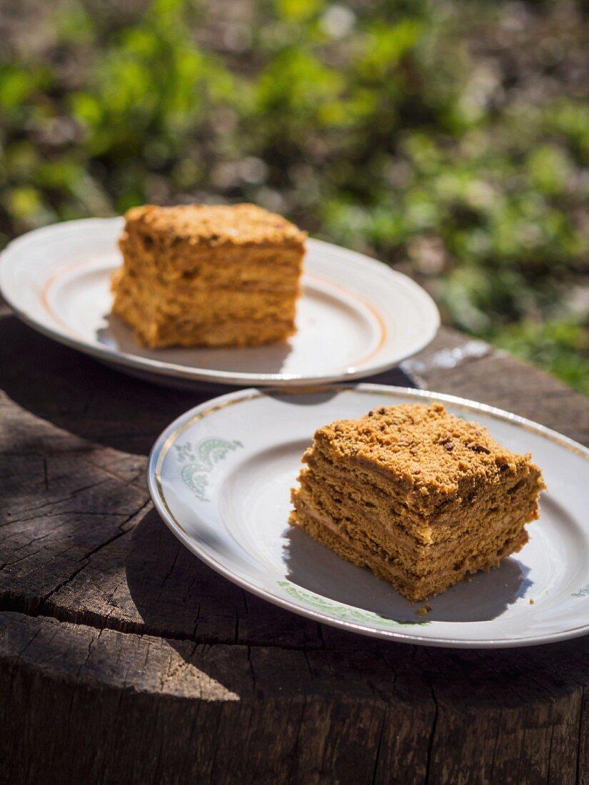 Honey cake Georgian style.