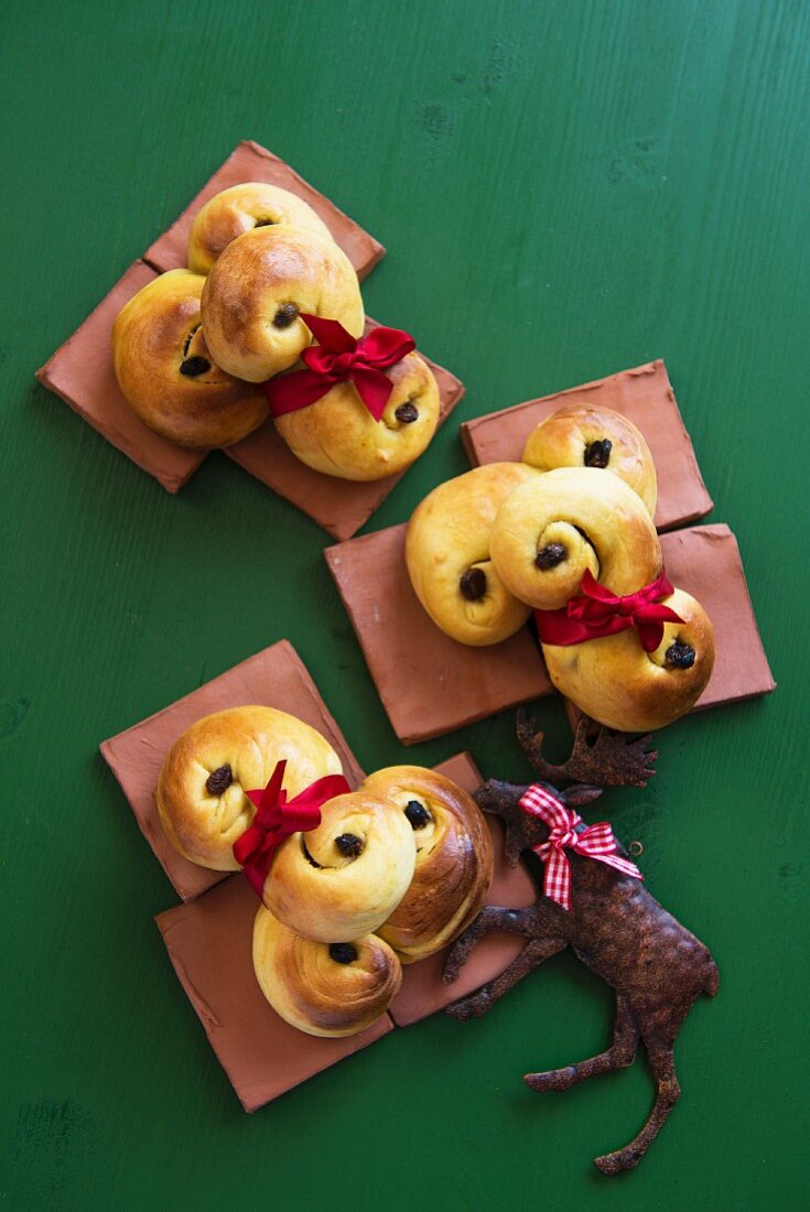 Saffron buns from Sweden, for Christmas