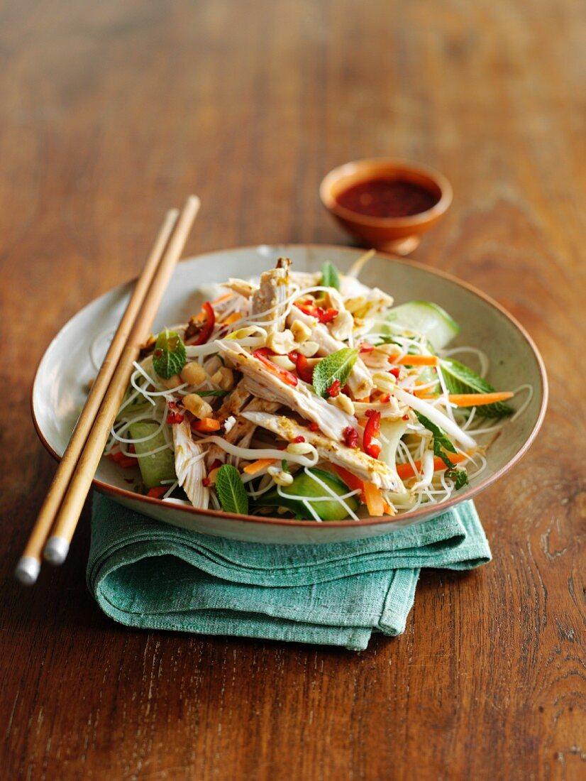 Noodle salad with chicken (Vietnam)
