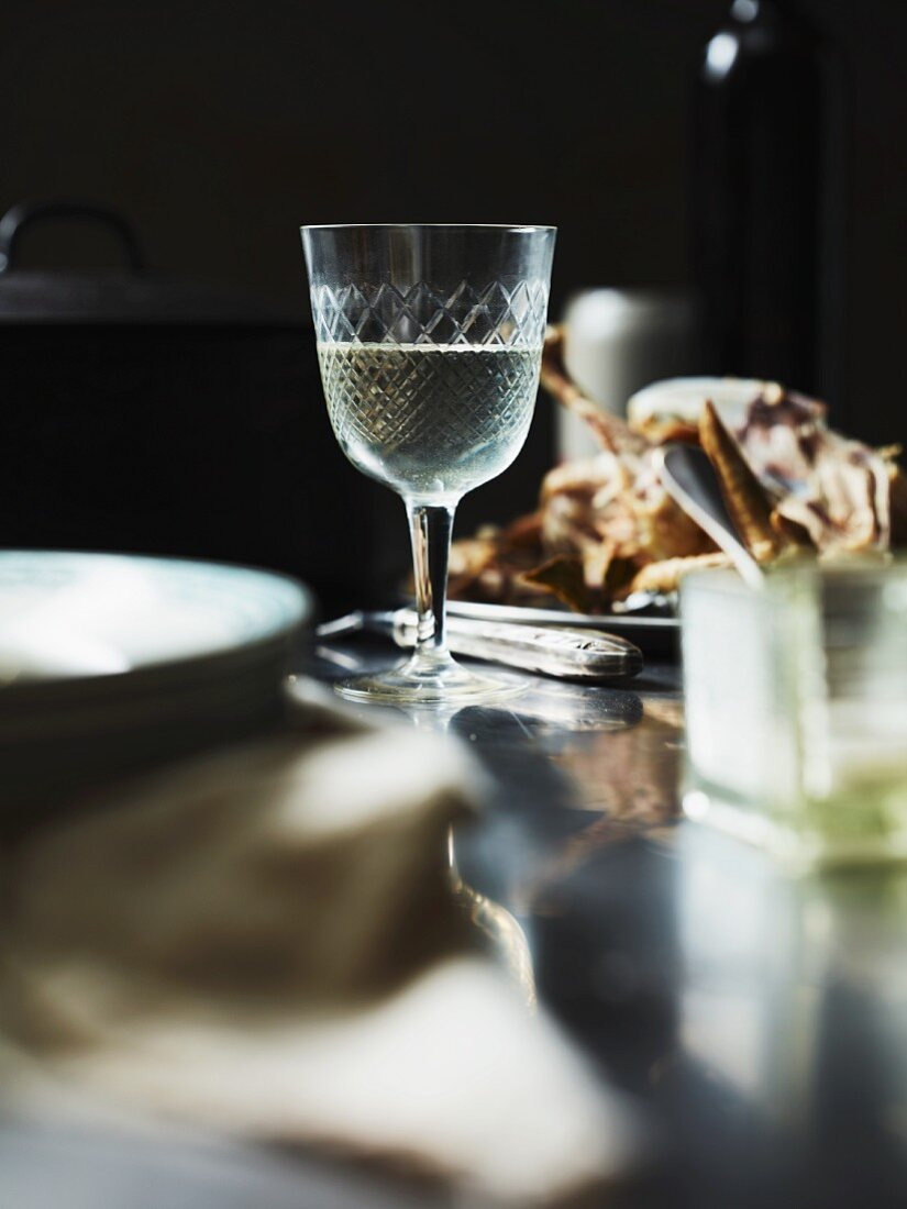 White wine as an ingredient for chicken soup