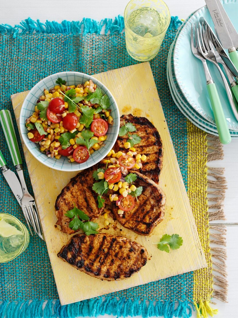 Cajun Spiced Pork with Corn Salsa