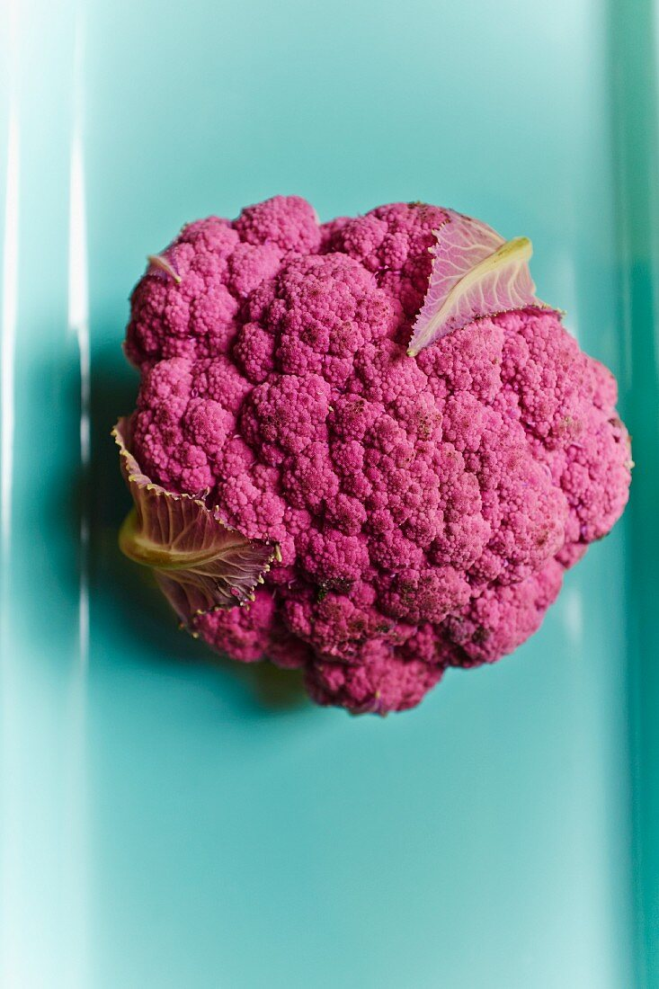 Purple cauliflower (view from above)