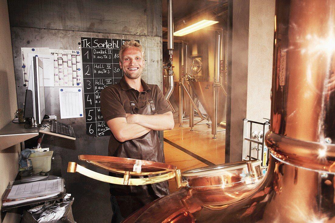Arbeiter in Brauerei