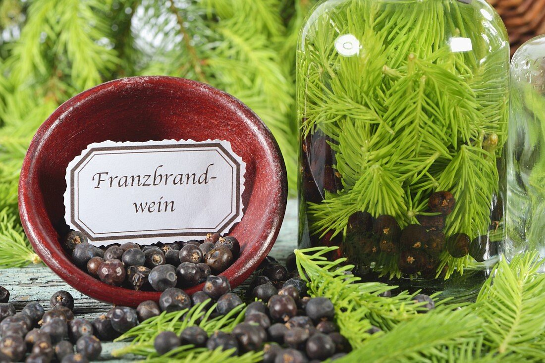 Ingredients for home-made French brandy