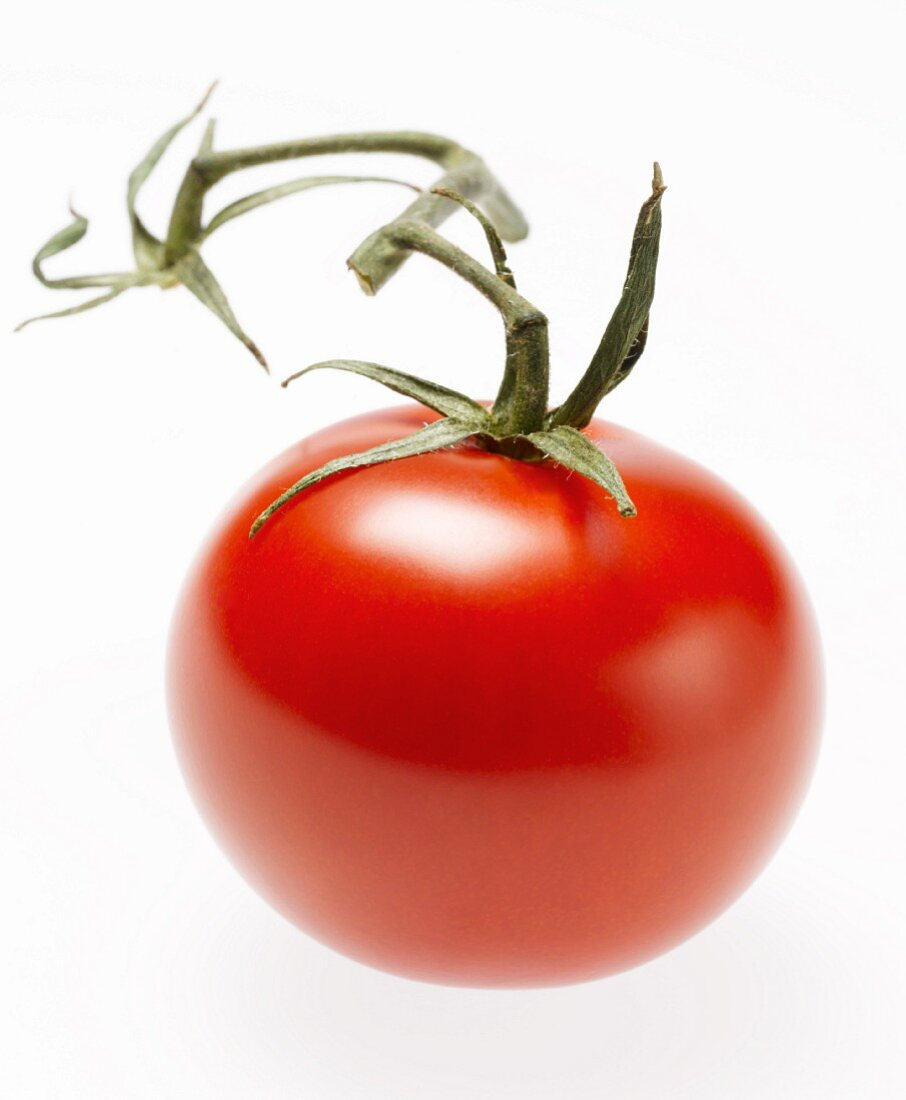 Whole Red Cherry Tomato with Stem