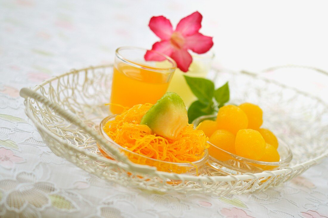 Fruit dessert from Thailand