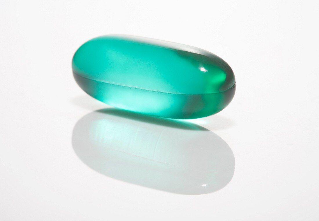 Green Gel Pill, Close-Up