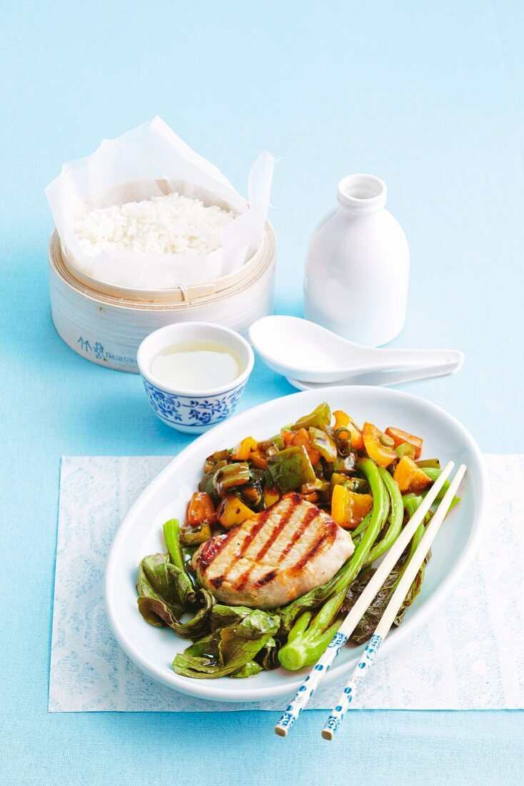 Grilled sweet and sour pork