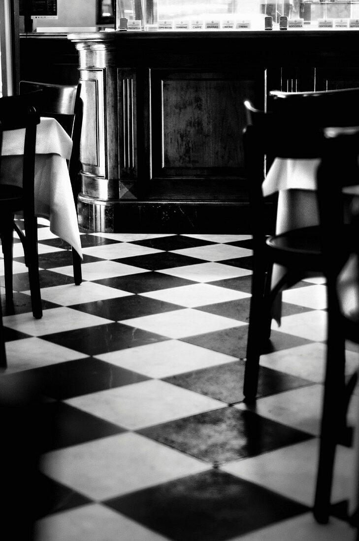 The interior of a classic Italian bar