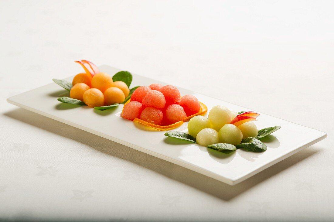 Various melon balls