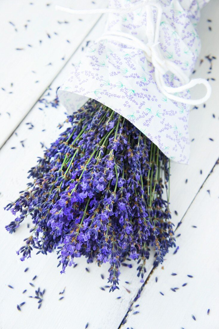 A bunch of fresh lavender