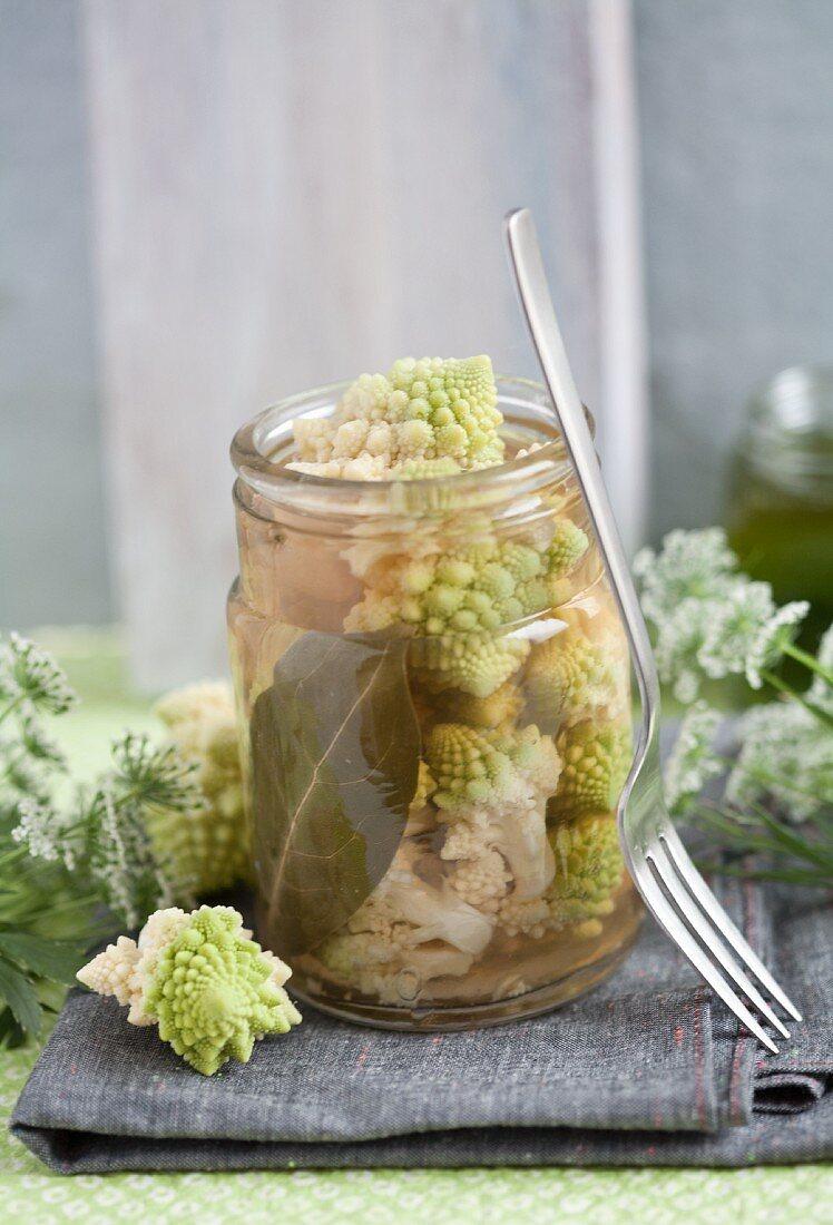 Pickled Romanesco broccoli