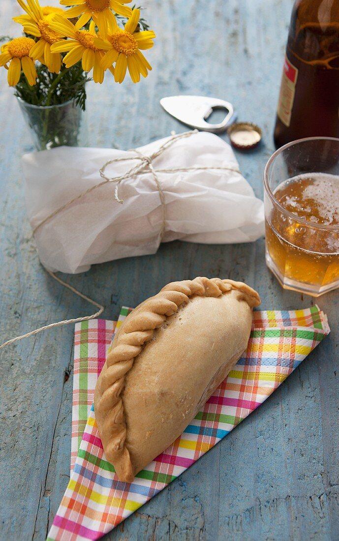 Empanadas and beer (Brazil)