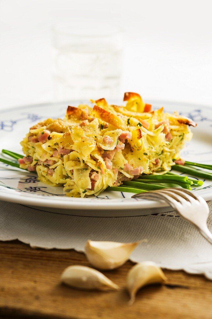 Ham Fleckerl (Austria pasta)