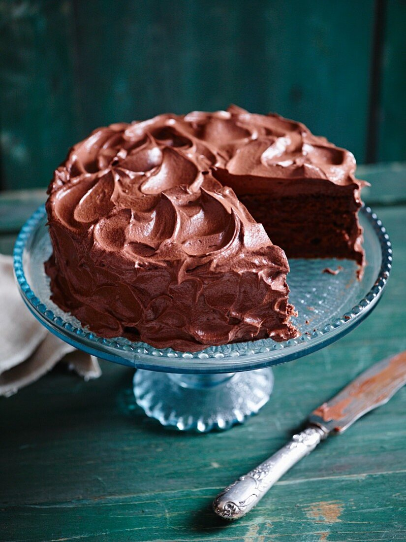 A creamy milk chocolate cake