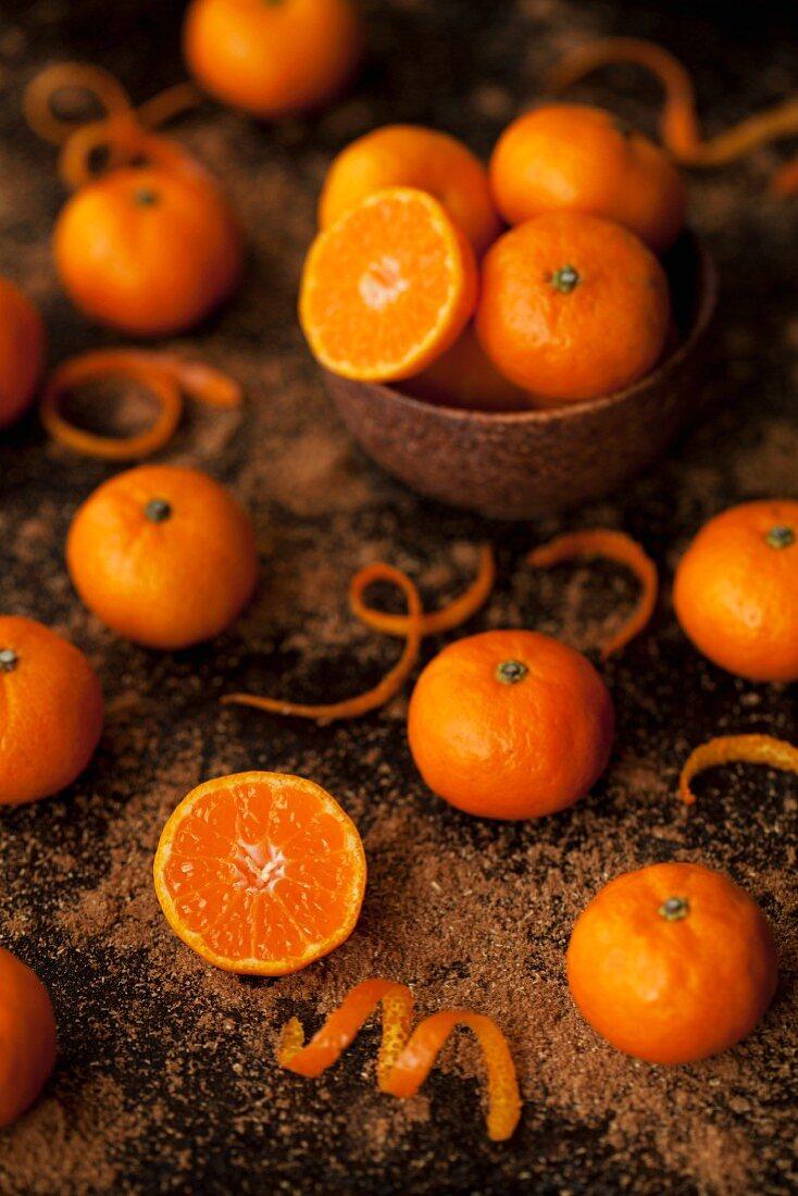 Mini mandarins with brown sugar and orange zest