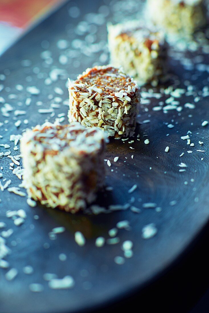 Turkish delight with dates, apricots, almonds and coconut