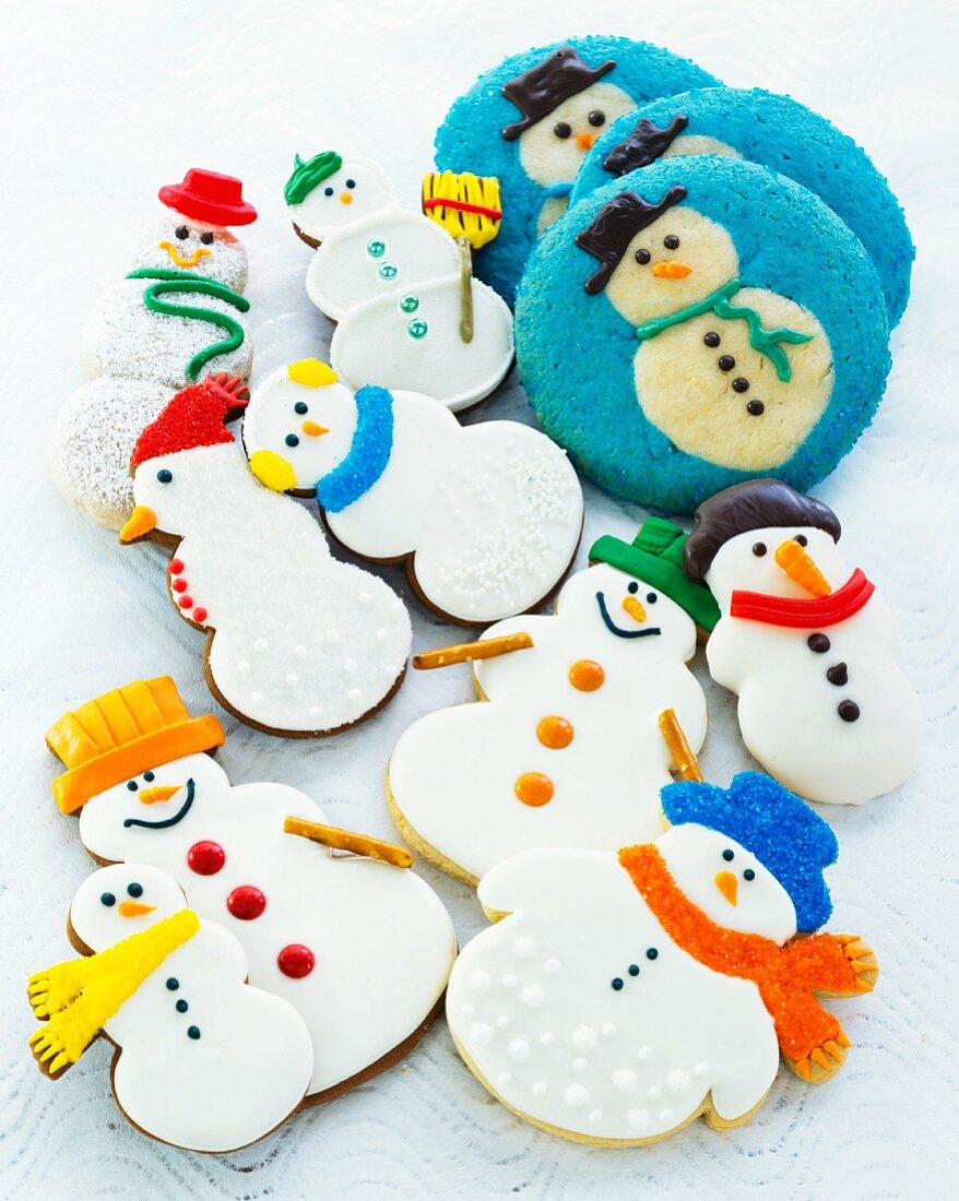Christmas snowman biscuits