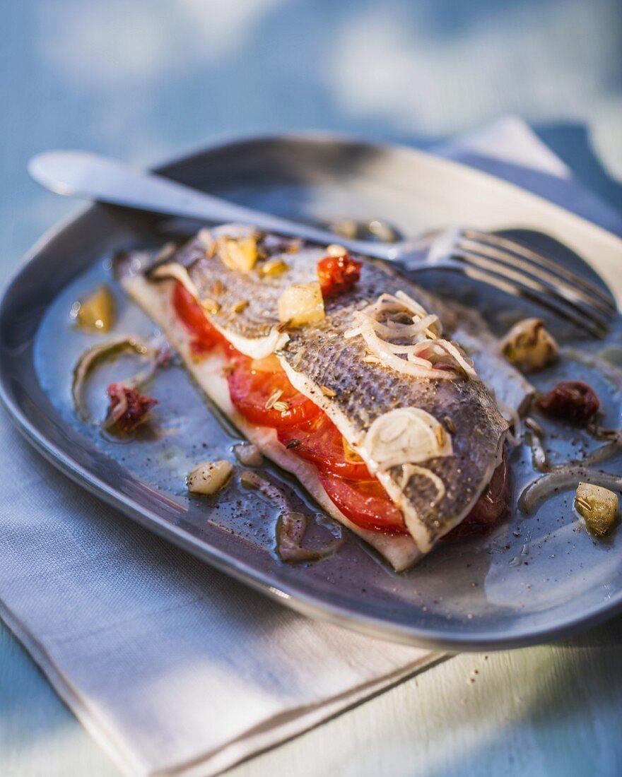 Sweet and sour gilthead à la provençale