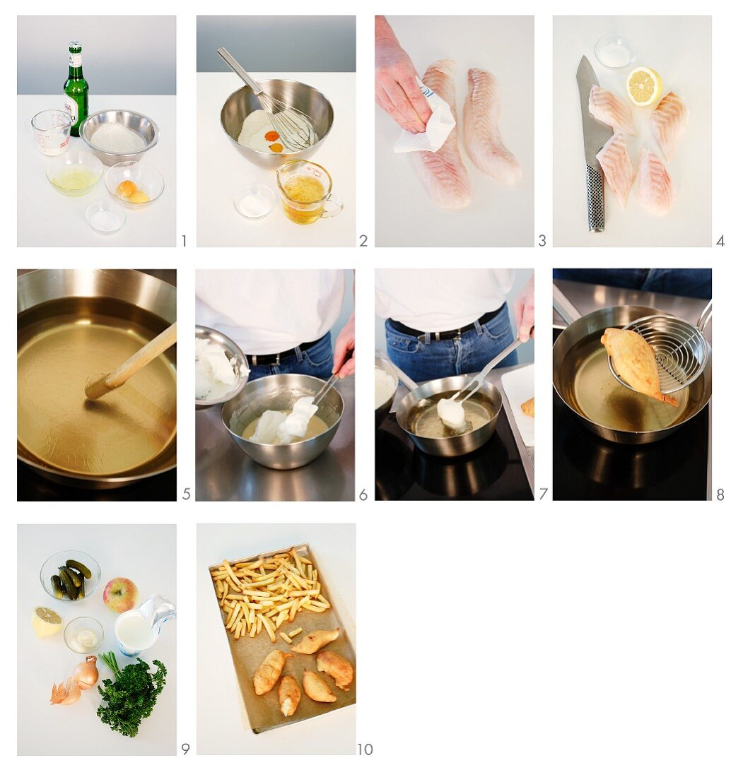 Fish & chips being made