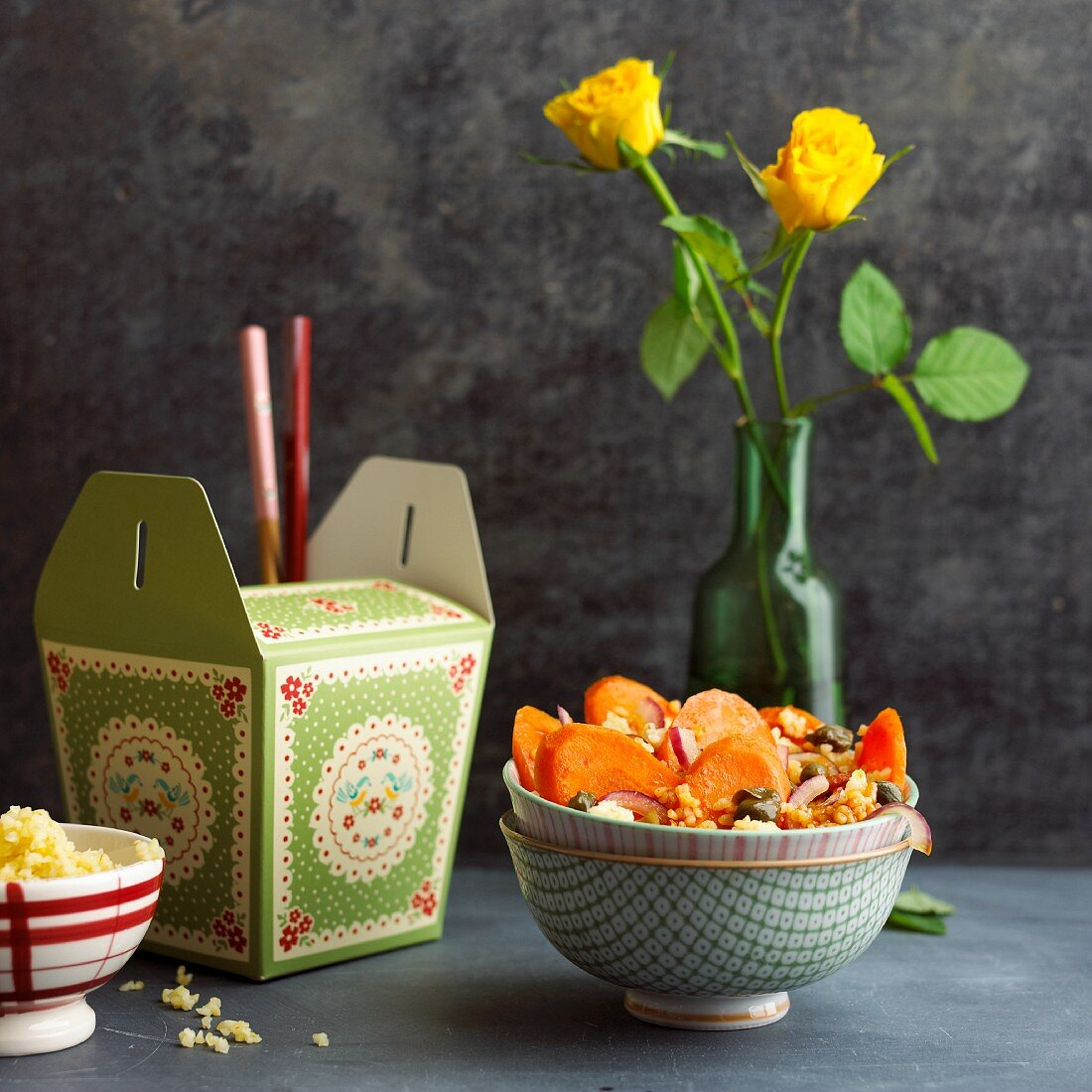 Thai-style bulgur with carrots and capers