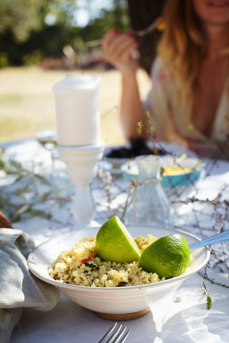 Couscous salad with limes