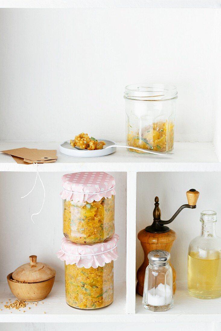 Home-made mango mustard