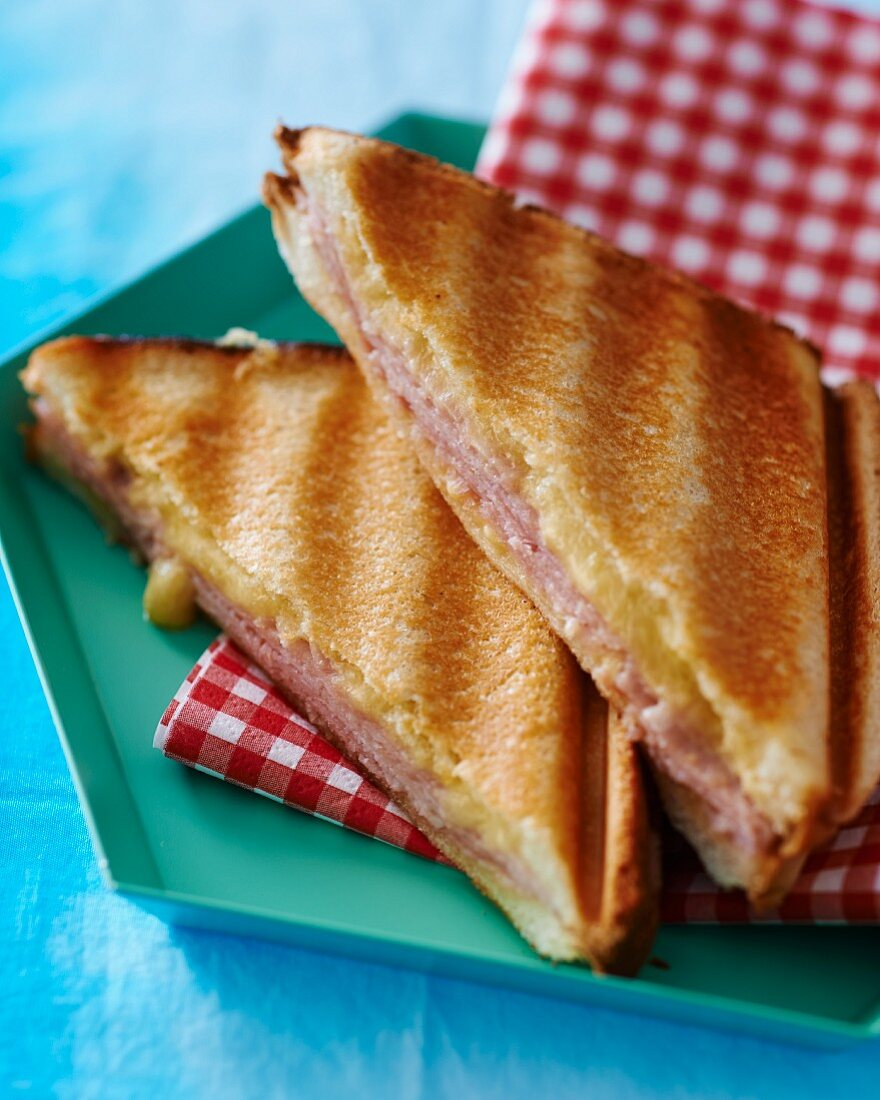 Croque monsieur (ham and cheese sandwich, France)