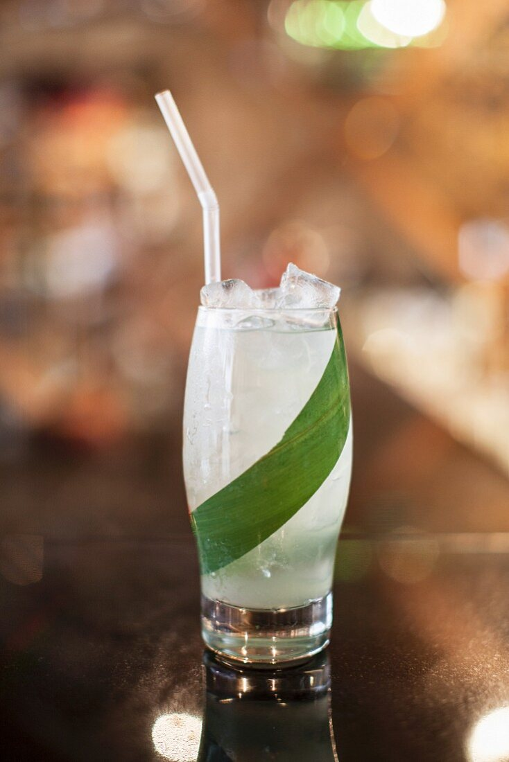 A banana cocktail with gin
