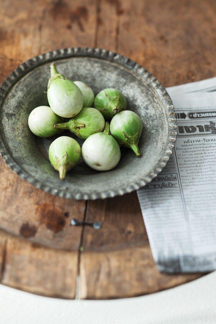 Fresh Thai aubergines