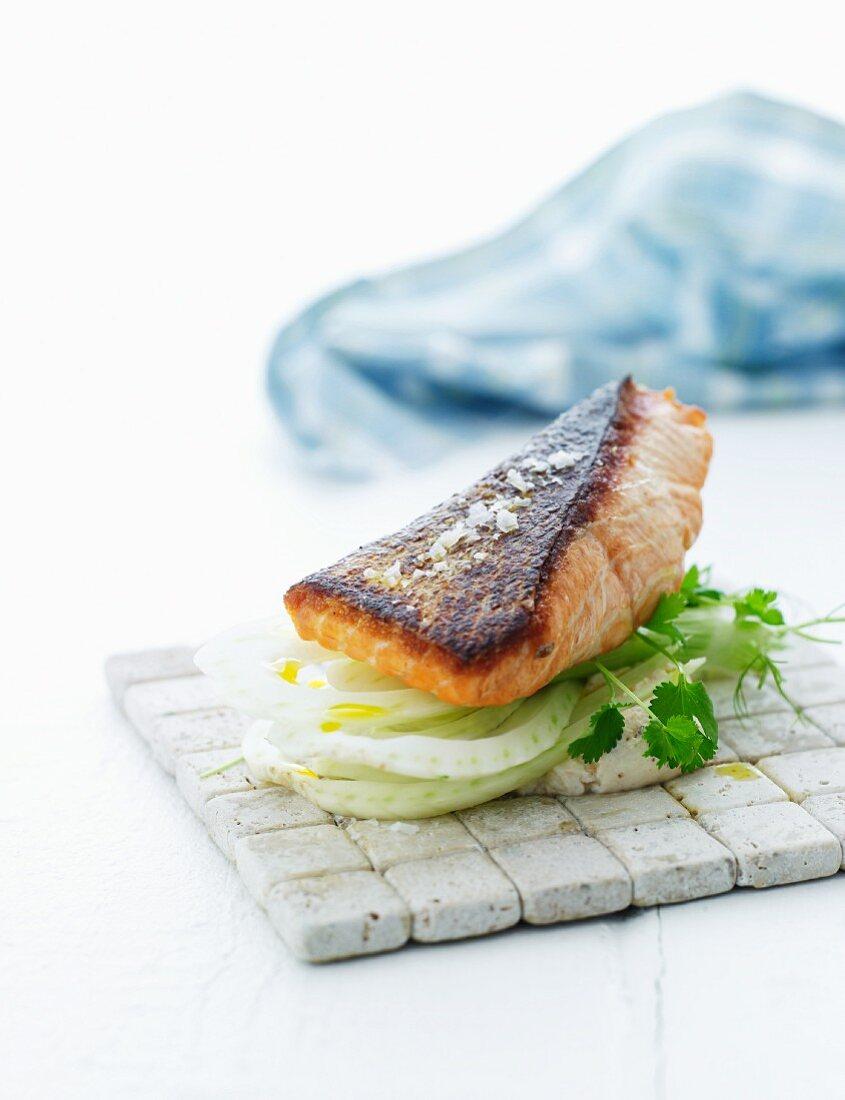 A fish sandwich
