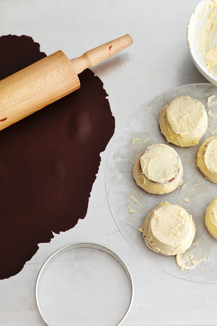 Irish coffee cakes being made
