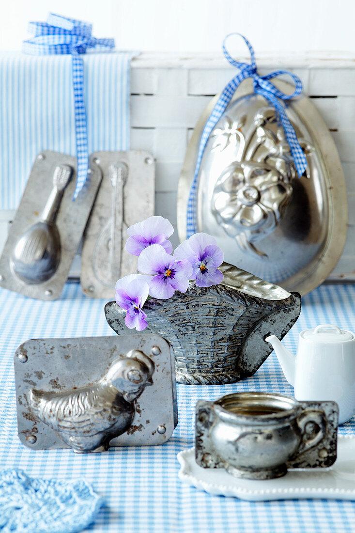 Various Easter baking tins