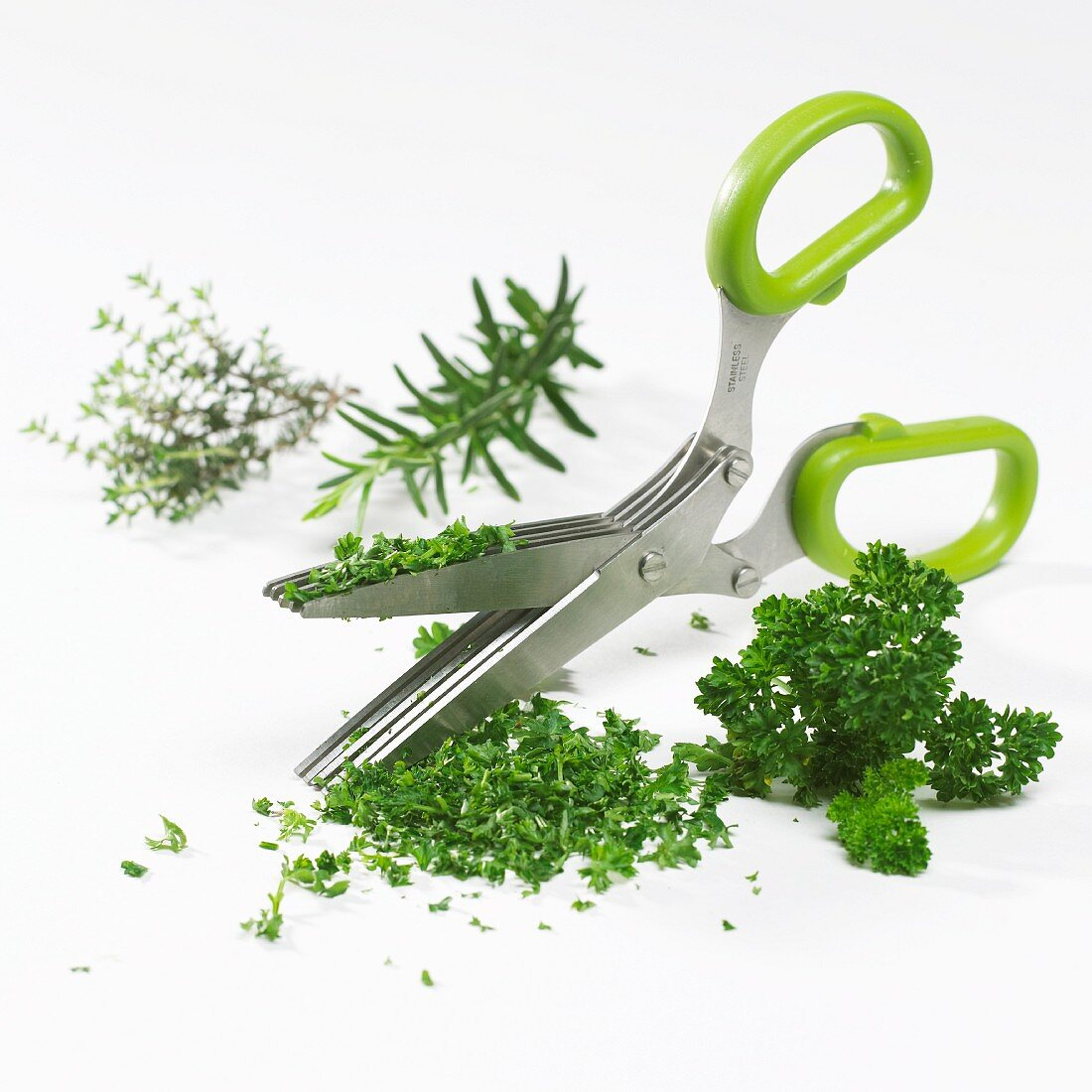 Herb scissors with multiple blades