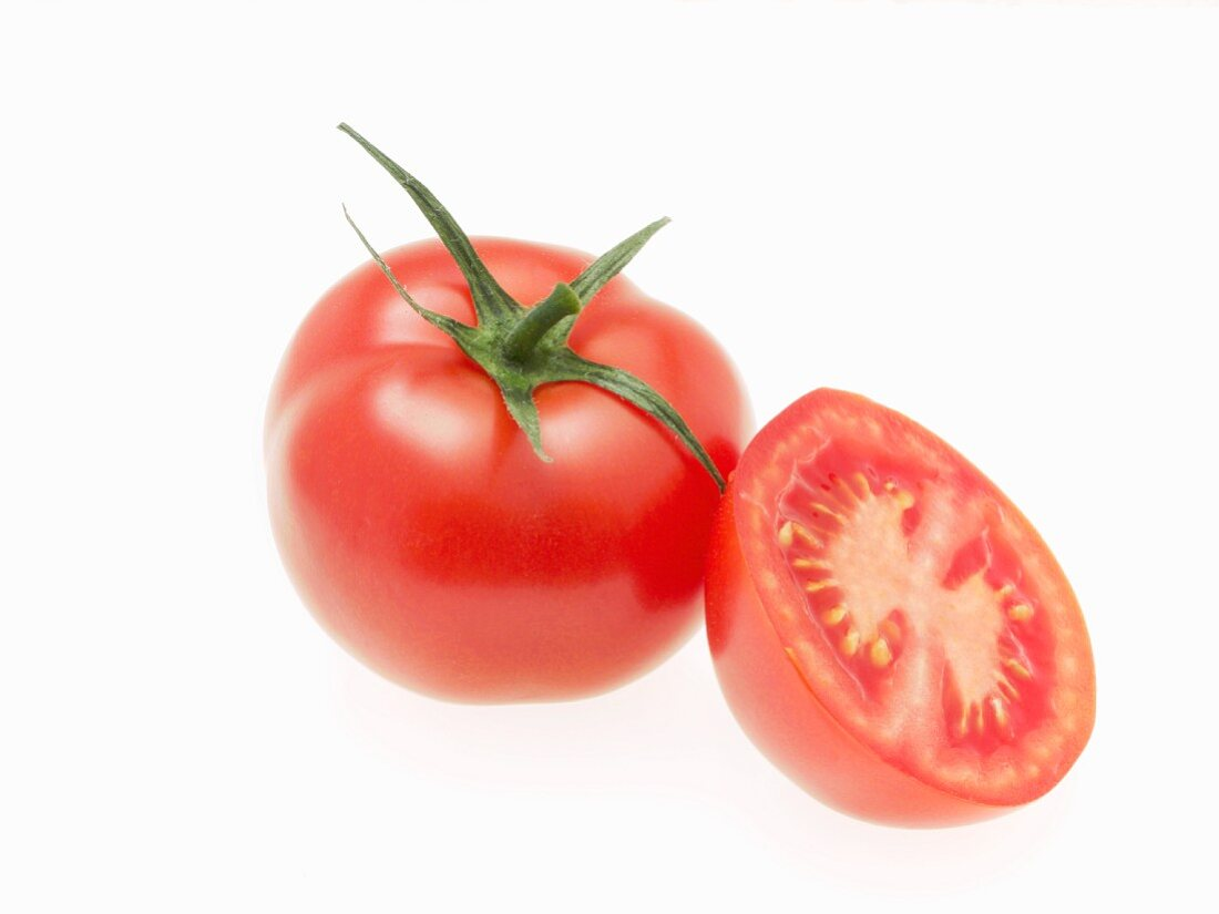 A whole and a half tomato
