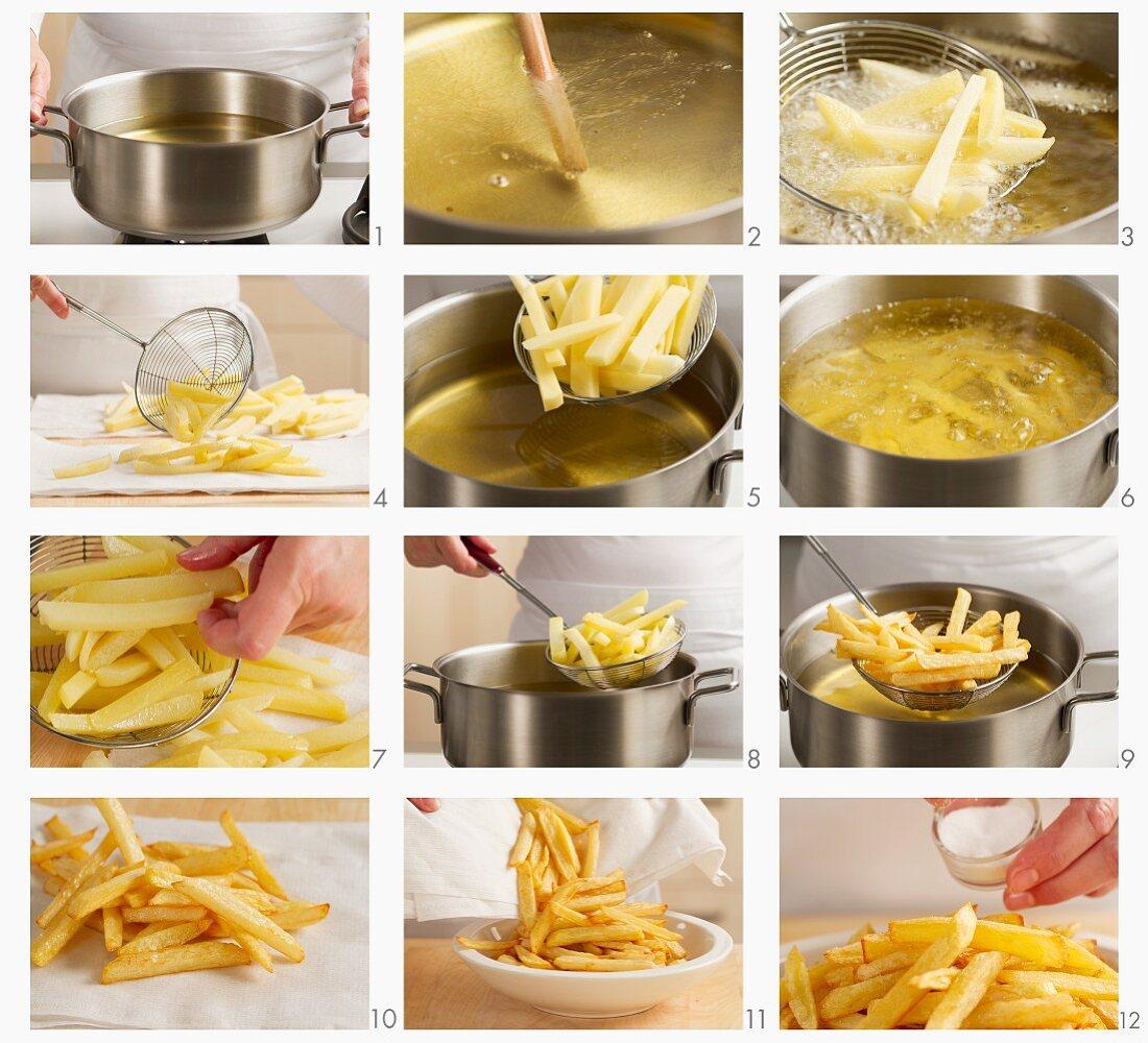 Chips being prepared