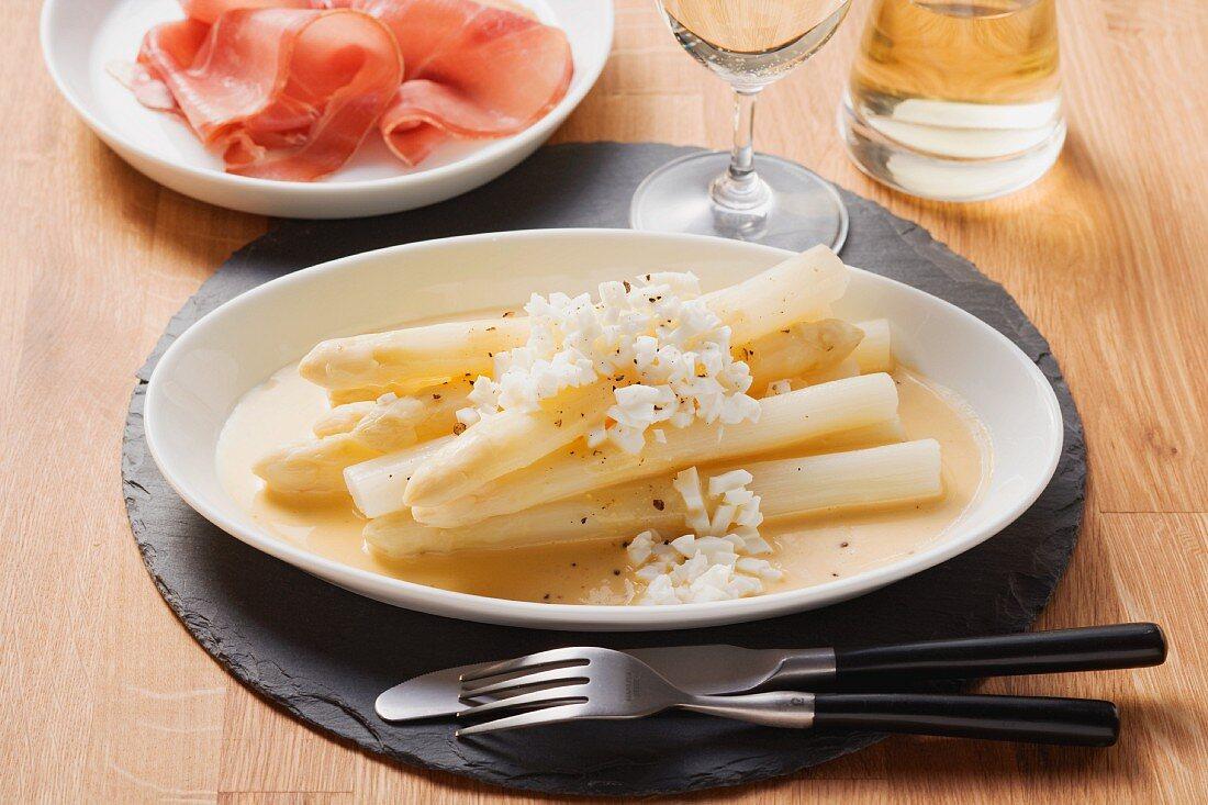 Flemish style asparagus