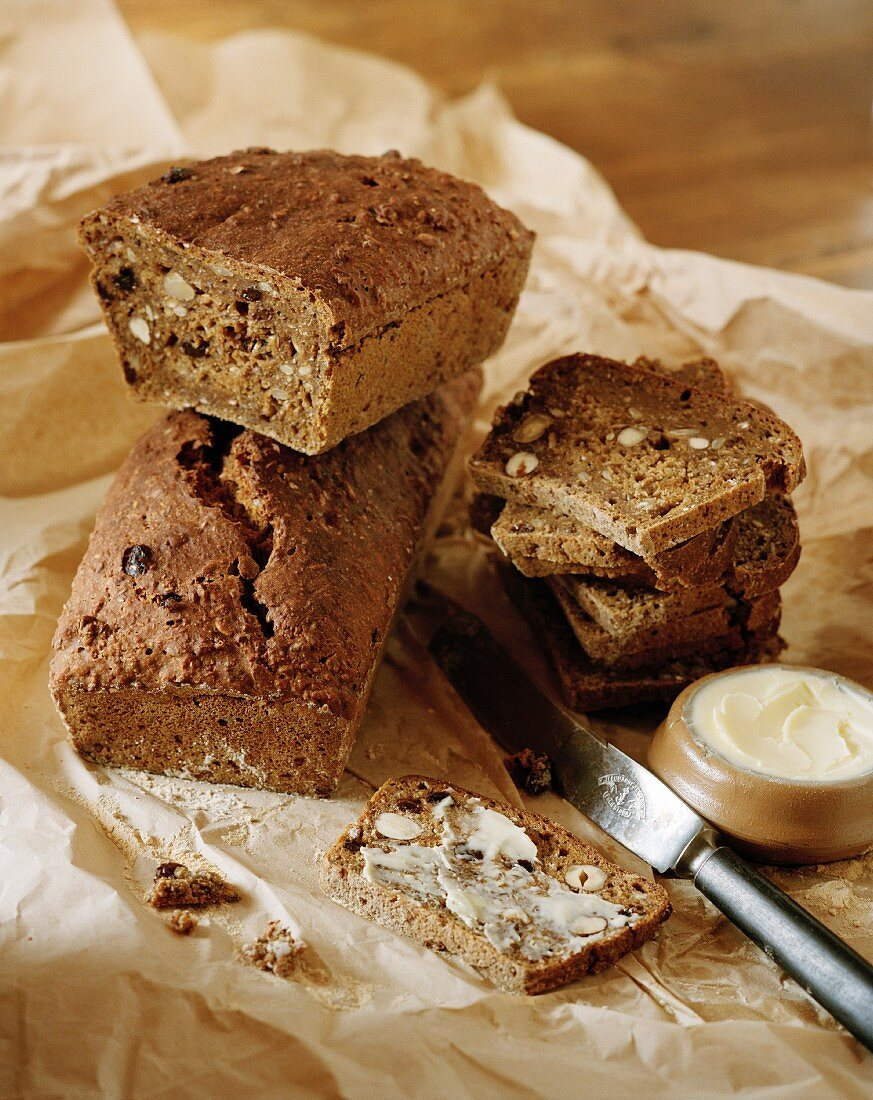 Nut bread and butter