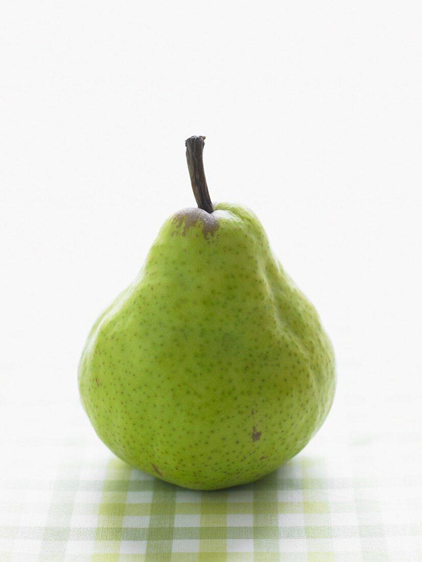 One Green Anjou Pear