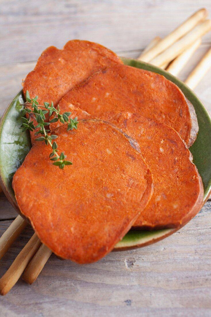Sobrassada (air-dried pork, Mallorca)