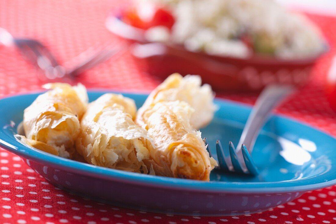 Baniza (puff pastry pockets, Bulgaria)