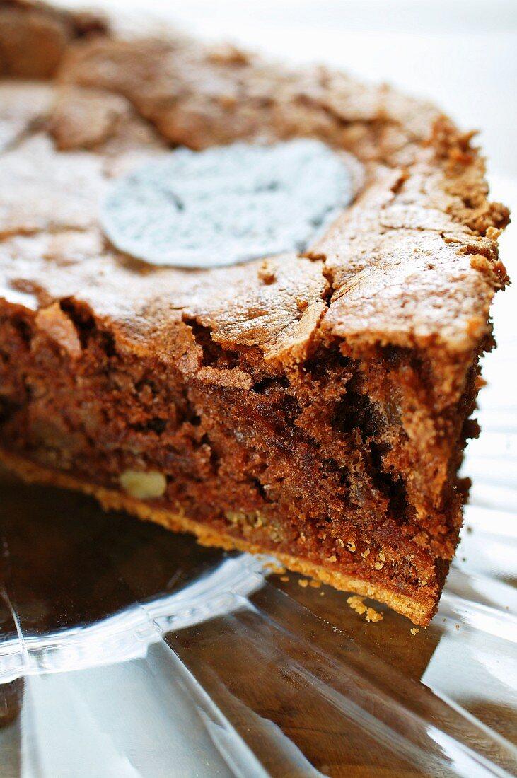 Walnut torte (close up)