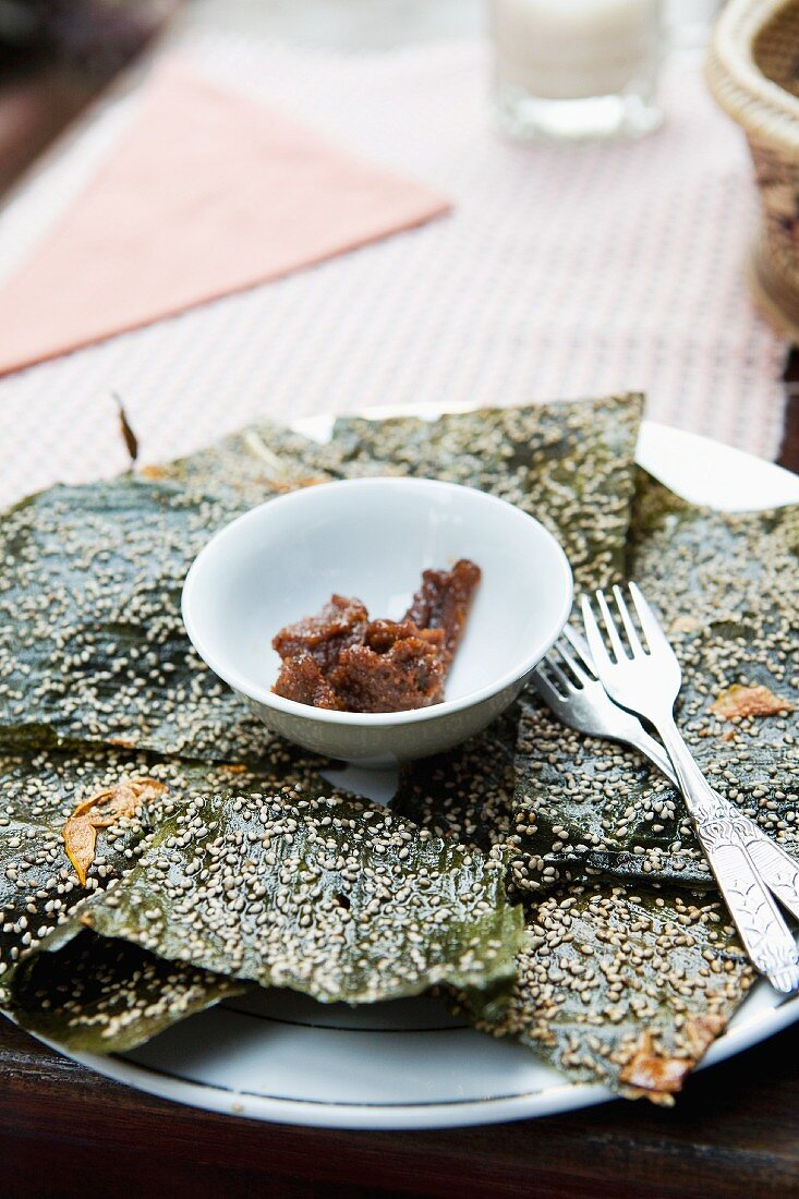 Dried seaweed from Mekong with chilli paste (Vietnam)