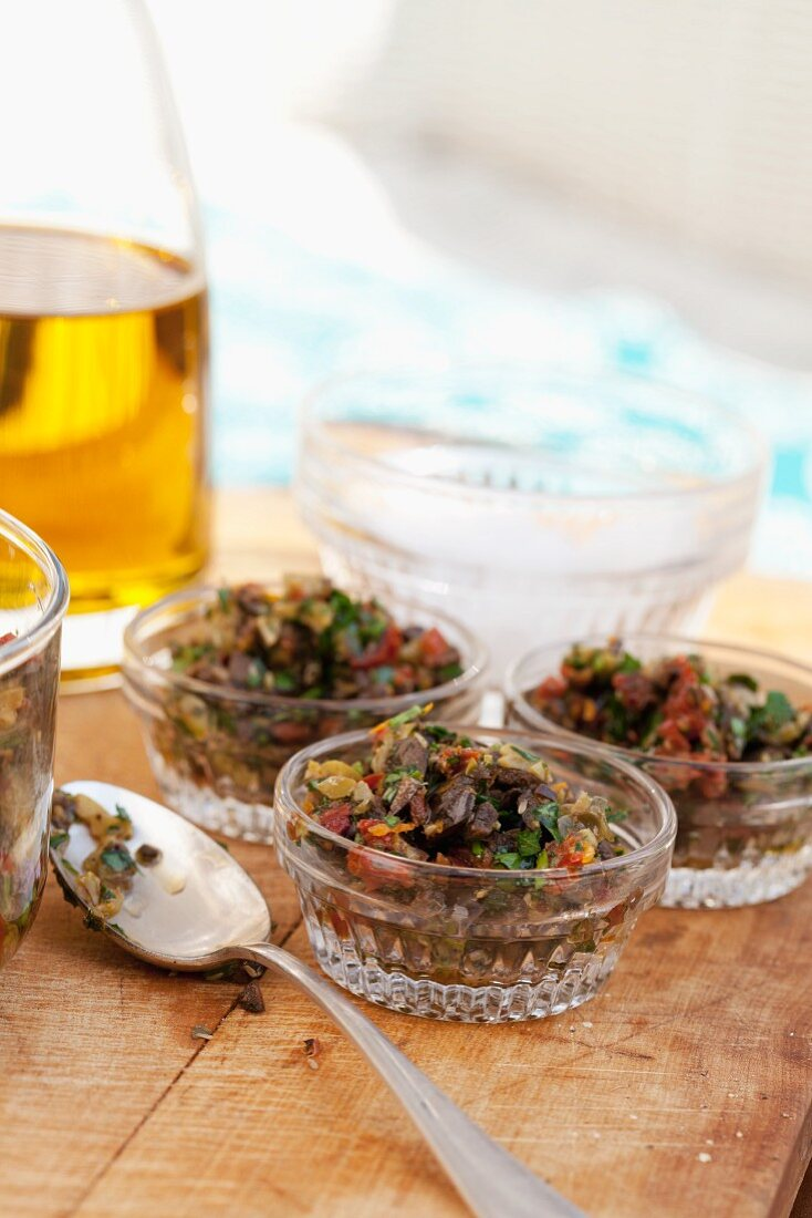 Tomato and olive relish