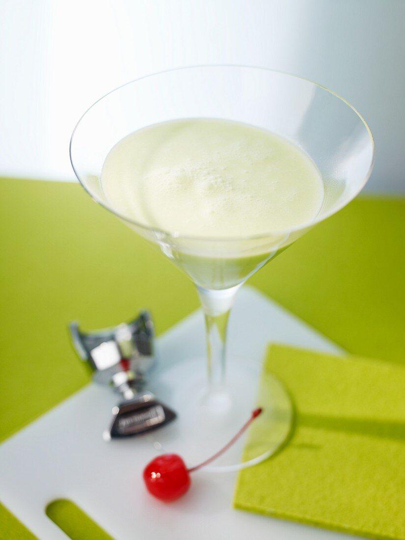 'Grasshopper' cocktail with creme de menthe