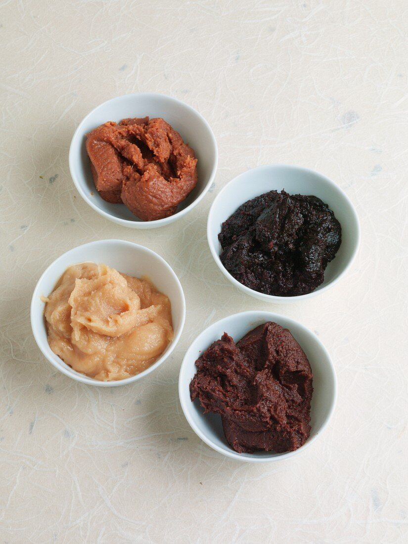 Assorted miso pastes