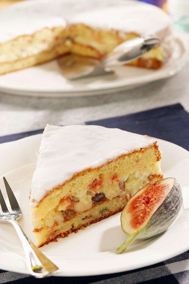 Iced fig cake (Palatinate, Germany)